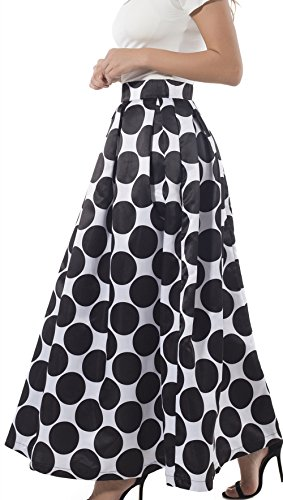 Polka Dot Pleated Skirt - 2