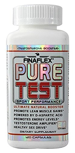 Pure Test, Ultimate Test Booster, Support Testosterone Levels Naturally, Pure DAA, D Aspartic Acid, Increase Strength and Endurance, 120 Capsules