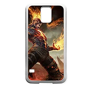 Brand-001 League of Legends LoL case cover for Samsung Galaxy S5 - Rubber White