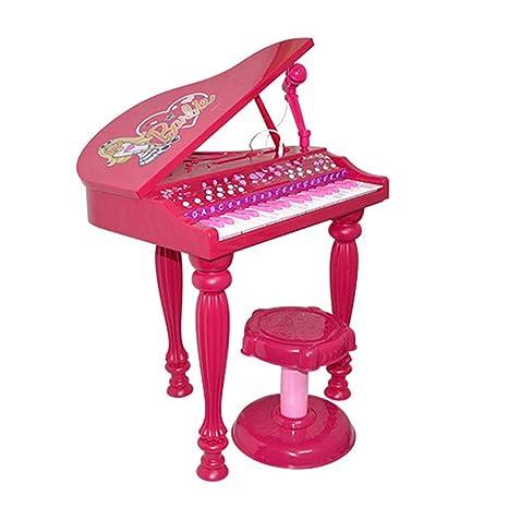 Puzzle de Piano Teclado De Simulación para Niños con Micrófono Juguete De Música para Piano De