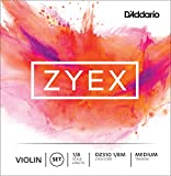 D\'Addario Zyex Violin String Set, 1/8 Scale, Medium Tension