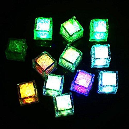 Liquid Sensor Led Lights - Colorful Liquid Sensor Led Glowing Ice Cube Light Drinking Wine Wedding Bar Decoration - 1PCs