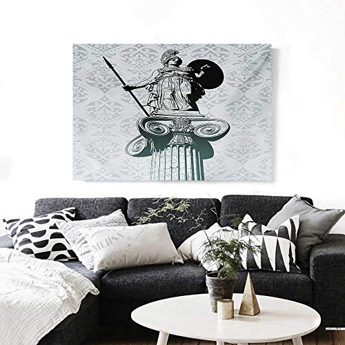 Sculptures Canvas Print Wall Art Statue of Athena on Baroque Background Ancient Greek Mythology Artwork for Wall Decor 20