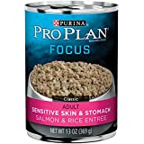 Purina Pro Plan FOCUS Sensitive Skin & Stomach Adult Canned Wet Dog Food