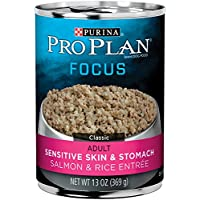 Purina Pro Plan Focus Sensitive Skin & Stomach Classic Salmon & Rice Entree Adult Wet Dog Food - (12) 13 oz. Cans