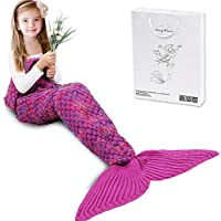 AmyHomie Mermaid Tail Blanket, Mermaid Blanket Adult...