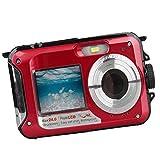 Jili Online Waterproof Video Camera 24MP 4x Zoom Cameras 2.7 Inch LCD 10m Underwater Red
