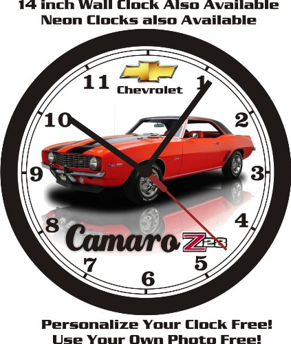 1969 CHEVROLET CAMARO Z28 WALL CLOCK-FREE US SHIP-Choose 1 of 4 (Camaro Clock Neon)