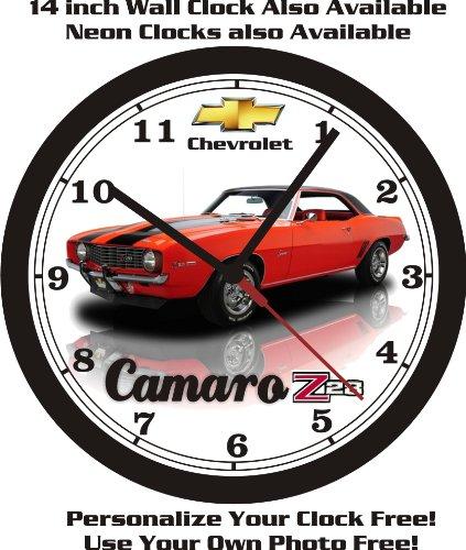 - 1969 CHEVROLET CAMARO Z28 WALL CLOCK-FREE US SHIP-Choose 1 of 4