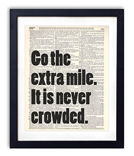 go-the-extra-mile-typography-upcycled-vintage-dictionary-art-print-8x10