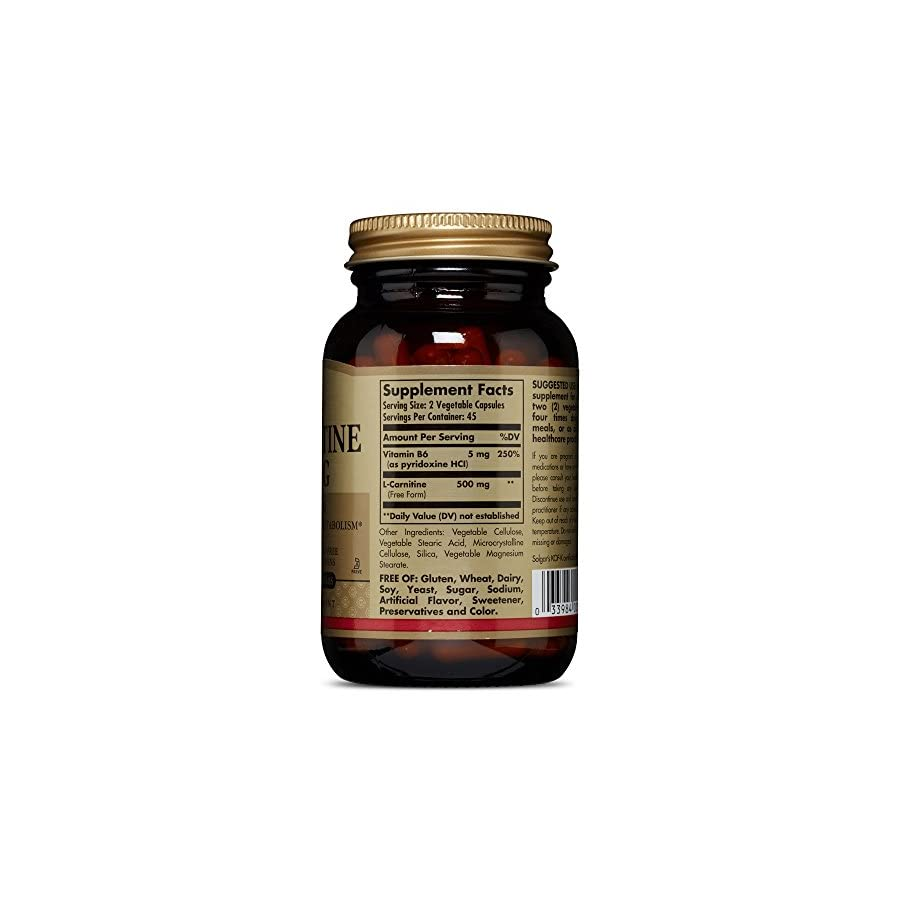Solgar – L Carnitine 250 mg, 90 Vegetable Capsules