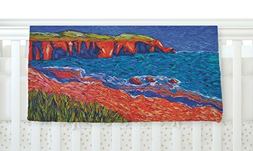 KESS InHouse Jeff Ferst Sea Shore Coastal Painting Fleece Baby Blanket 40 x 30 [並行輸入品]   B077ZVTF1V