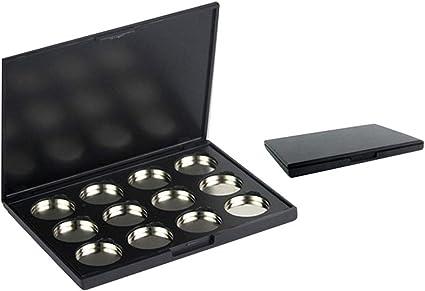 Lurrose 12 hoyos paleta de sombra de ojos magnética vacía Maquillaje contenedor paleta para cosméticos Sombra de ojos: Amazon.es: Belleza