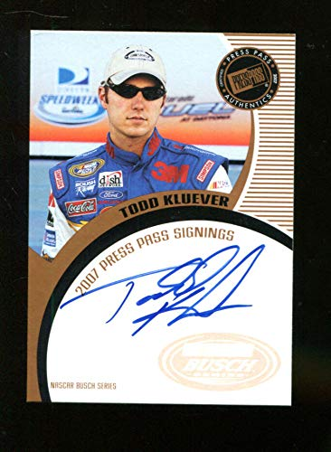 - Todd Kluever 2007 Press Pass Auto Signed Mint 22289