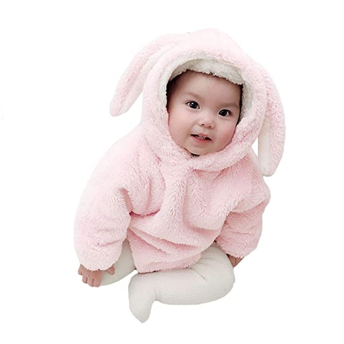 aafc746ab Amazon.com  Cute Infant Baby Boys Girls Bodysuit Romper Rabbit ...