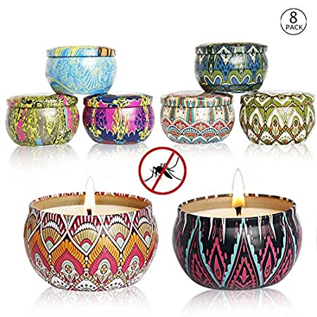 Amazon.com: YIHANG - Juego de 8 velas aromáticas de ...