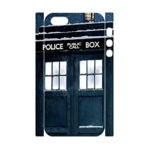 DIYPCASE Diy Doctor Who TARDIS Police Call Box Customized Case 3D Bumper Plastic for iPhone 5,5S