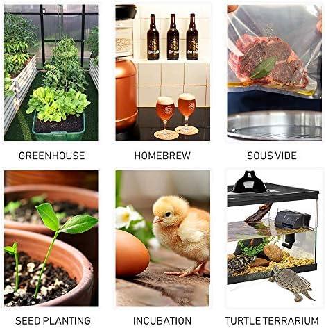 Inkbird Termostato ITC-308 + Higrostato IHC-200 Conjuntos Adecuado para Jamón Casera, Mini Invernadero, Cultivo de Hongos, Reptiles: Amazon.es: Bricolaje y herramientas