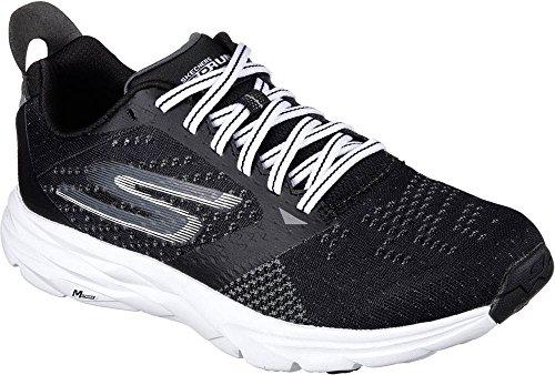 Skechers Performance Women's Go Run Ride 6 Running Shoe, Black/White, 9.5 M US