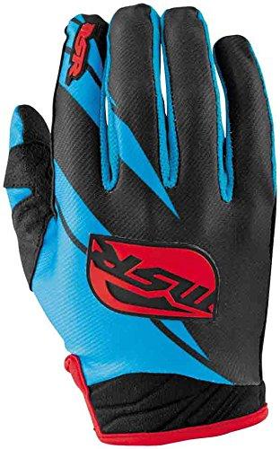 MSR Racing Renegade Men's MotoX Motorcycle Gloves - Black/Cyan/Red / 2X-Large ()