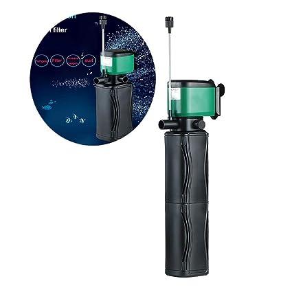 PIG Acuario Filtro Interior Bomba de Agua Sumergible con Filtro Sumergible para acuarios,