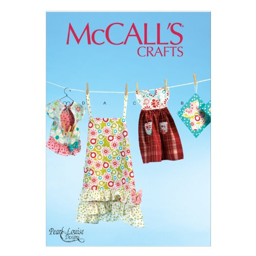McCall Pattern Company M6769 Apron, Potholders, Towel and Clothespin Bag Sewing Template, One Size Only in One Envelope