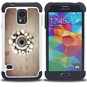 For Samsung Galaxy S5 I9600 G9009 G9008V - Eyeball Parade Dual Layer caso de Shell HUELGA Impacto pata de cabra con im??genes gr??ficas Steam - Funny Shop -