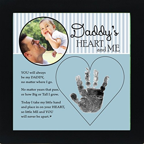 Baby Child Keepsake Handprint Frame with Poetry - Mommy, Daddy, Grandma or Grandpa (Daddy) (Best Gift For New Grandparents)