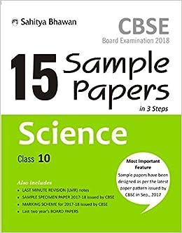 15 sample papers science class 10 amazon in binay kumar singh books