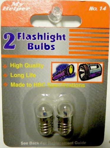 2 Pack No. 14 Flashlight Bulbs