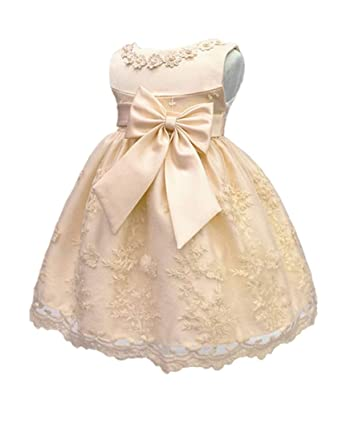 36ef09497b8d H.X Baby Girl's Newborn Bowknot Gauze Christening Baptism Dress Infant  Flower Girls Wedding Dresses 12 Color