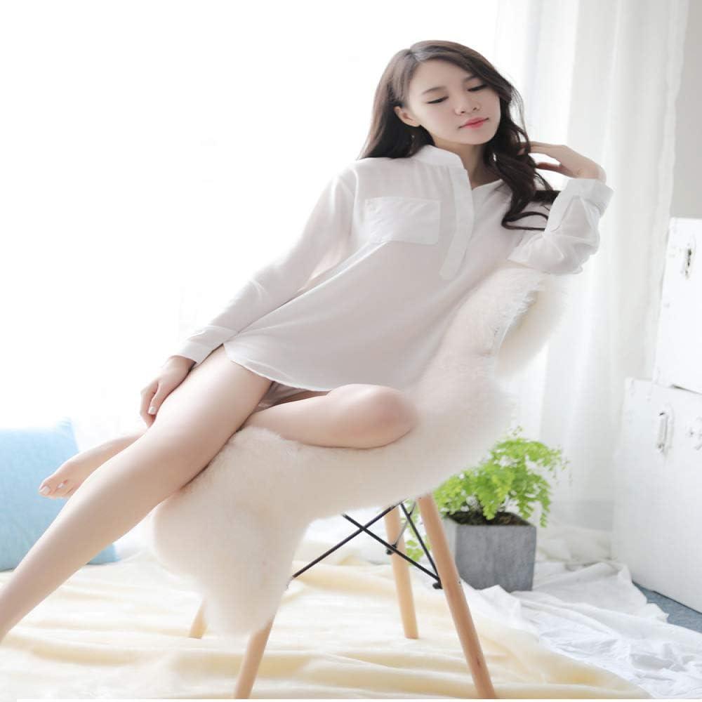 jiushixw Camisa Blanca Uniforme Perspectiva tentación ...