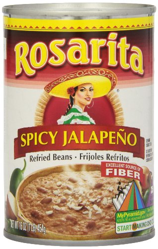 Rosarita Spicy Jalapeno Refried Beans, 16 oz