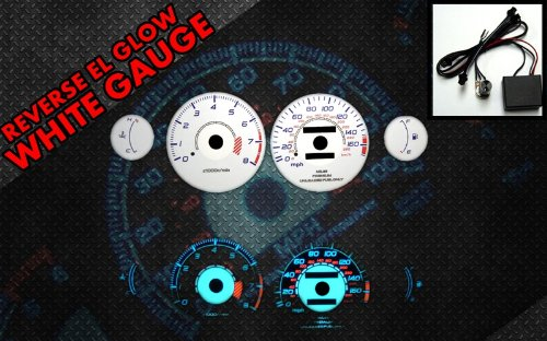 Brand New White Face Blue Indigo Reverse Glow Gauges For 95-99 Eclipse NA AT (I-370) (Gauges Glow Turbo Reverse)