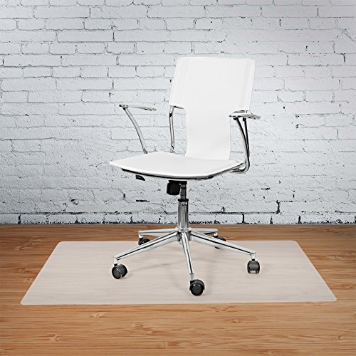 """Vinyl Office Chair Mat by Terazzo - for Hard Floor Tile Scratch, Mark, and Scuff Resistant Protection on Hardwood, Vinyl, Laminate - Sized 36"""" x 48"""" Inches"""