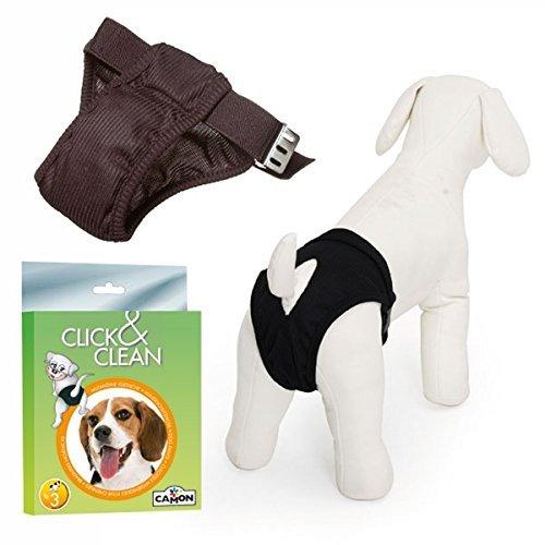 Dog Panties Pet Diaper Sanitary Pants,Click & Clean Dog Sanitary Panties (LARGE 16 inches - 22 inches around belly) ()