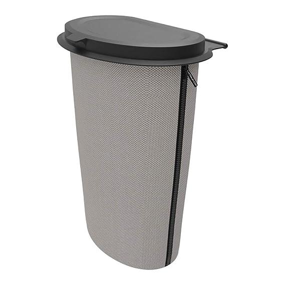 Flex Trash 0523253/cartrash Cubo de Basura para Montar Regular 9L de Gris de Incluye Asiento de /& salpicadero de Clips