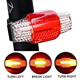 HANGRUI USB Rechargeable Bike Tail Light, Bike Smart Steering Brake Light, Ultra Bright Rear Bicycle Light Induction Brake Rear Light, Bike Warning Taillights Turn Signal Waterproof Bike Lights