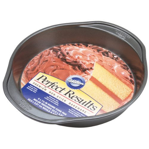 Wilton 2105-6059 Perfect Results Nonstick Round Cake Pan, 9 by 1.5-Inch