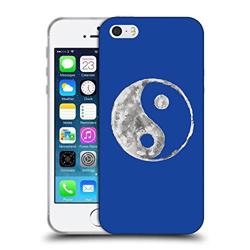 GoGoMobile Coque de Protection TPU Silicone Case pour // Q10050613 Yin yang 2 Bleu // Apple iPhone 5 5S 5G SE