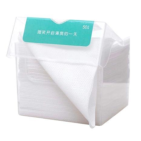 Frcolor 1 paquete de pañuelos desechables de limpieza facial desmontable, tela de algodón no tejida