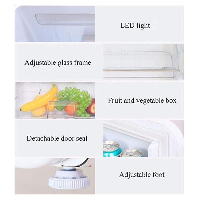 refrigerador de una Puerta, congelador, 93L, Tipo de Arco Retro ...