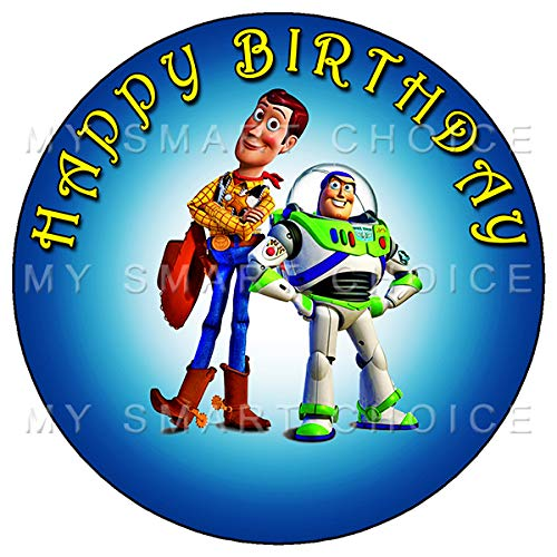 7.5 Inch Edible Cake Toppers - Toy Story 2 Themed Birthday Party Collection of Edible Cake Decorations (Toy Story Edible Images)