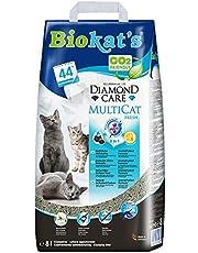 Biokat's Diamond Care MultiCat Fresh Lettiera per Gatti con Carbone Attivo, appositamente sviluppata per Famiglie con più Gatti