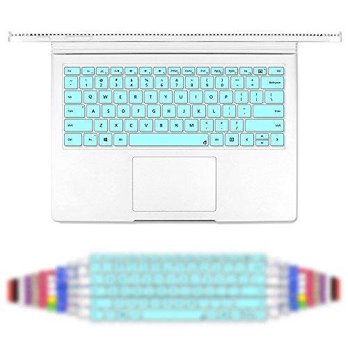 Masino Silicone Keyboard Cover Ultra Thin Keyboard Skin for Microsoft Surface Book (Silicon Keyboard Skin-Turquoise Blue) -