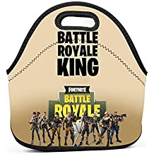 Ryaody Lunch Tote Fortnite Battle Royale King Lunch Bag Adult Kids - Idea Beach, Picnics, Road Trip, Meal Prep,Daily, Lunch to Work School