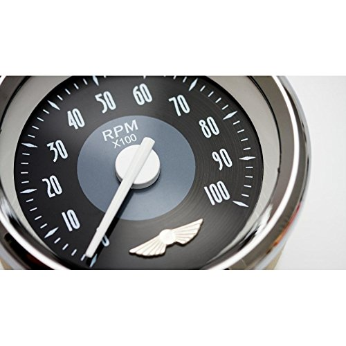Aurora Instruments GAR16ZEXIABCD Tachometer Gauge Tachometer Gauge - American Classic Black II, White Modern Needles, Chrome Trim Rings, Style Kit Installed
