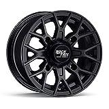 RockTrix RT104 12in ATV Wheel Rim 12x7 Matte Black | 4x137 | 5+2 Offset | for Kawasaki Teryx Mule Can-Am Maverick Commander Renegade Outlander 4/137-1pc Single