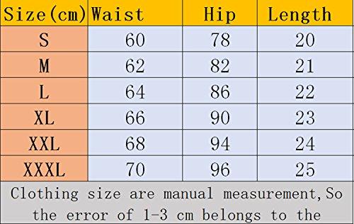 Fitness Righe Corto Cucitura Bianco Yoga Elasticizzati Pantaloncini Shorts Jogging Sportivi Verde YUPOLB Donna Pantaloni Spiaggia fzqRBBp