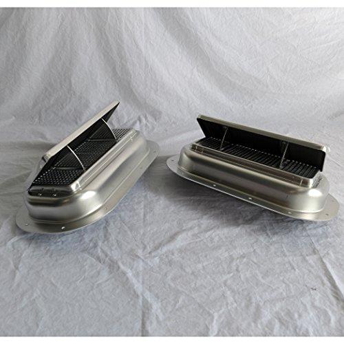 1 Pair Aluminum Popup High Profile Roof Vent Air Flow Horse Trailer Box w/Gasket AHP